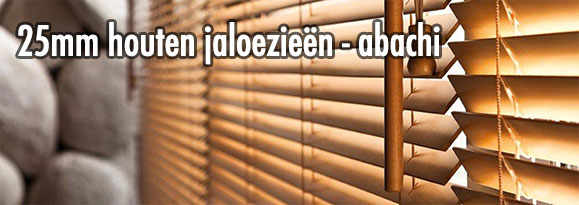 impression of 25mm-houten-jaloezieen-abachi